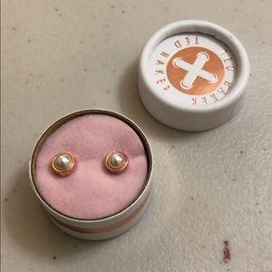 Ted Baker- Sinaa Rose Gold Pearl Stud Earrings